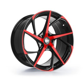 Leichtmetall-Felgen RB12959545112G30 |  RB12 1tlg. | 9,5X19 ET45 5/112 color polished - red