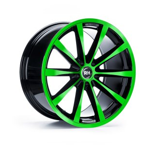 Leichtmetall-Felgen GT10521556114G28 | Typ 447 GT 1tlg. | 10,5X21 ET56 5/114 color polished - green
