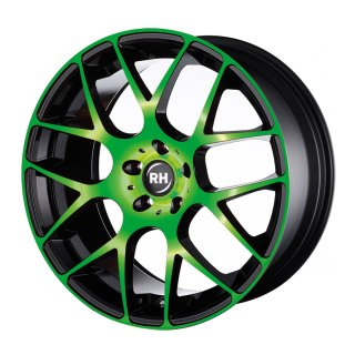 Leichtmetall-Felgen NBU859545112G28 | Typ 604 NBU Race 1tlg. | 8,5X19 ET45 5/112 color polished - green